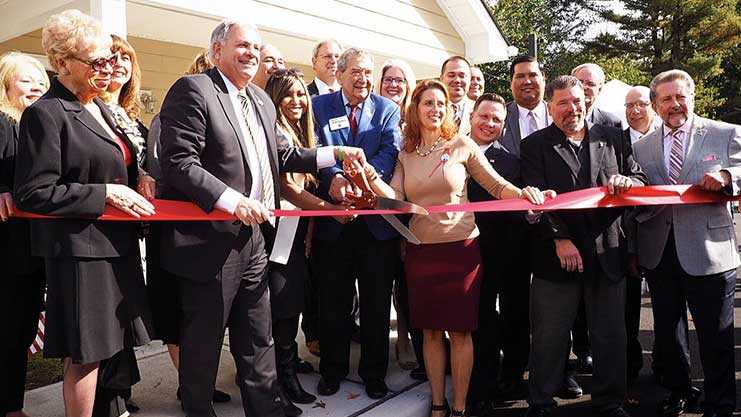[HUD Region II RA Lynne Patton joins Bergen County and Emerson officials, non-profits, at grand opening of new homes for homeless veterans]. HUD Photo