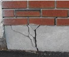 Cracks/Gaps (Foundations – Building Exterior). HUD Photo