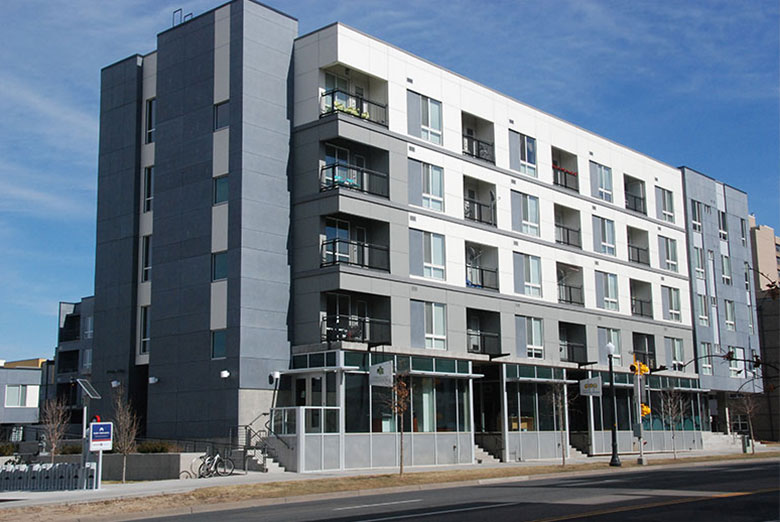 New construction building in Denver.. HUD Photo