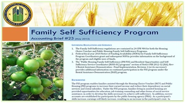 Family Self Sufficiency (FSS) Program or CFDA #14.896. HUD Photo