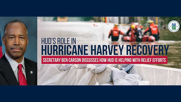 [HUD's Role in Hurricane Harvey Recovery]. HUD Graphic