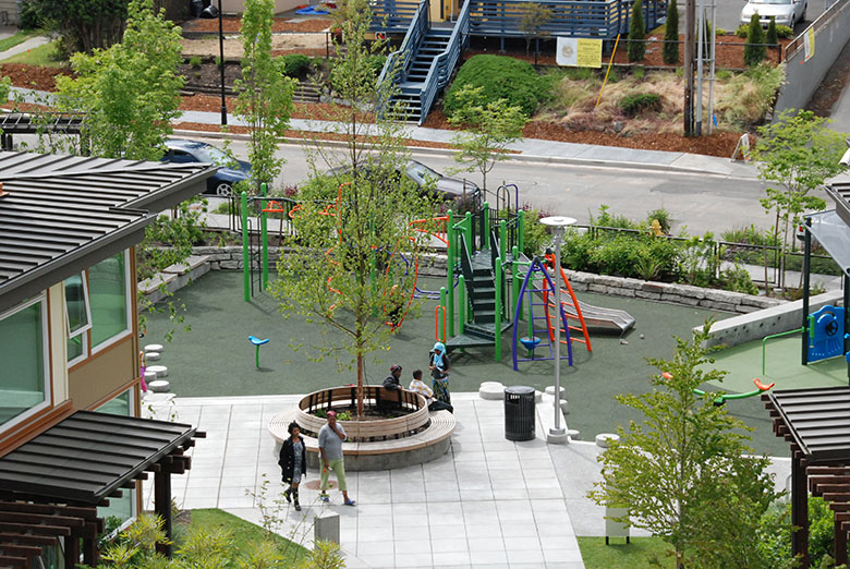 Community playground in a Seattle public housing development. . HUD Photo