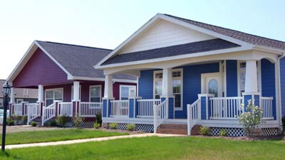[Photo: Row of houses]. HUD Photo
