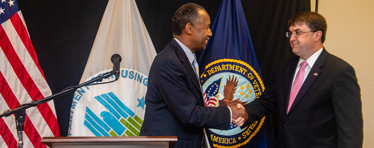 [HUD and VA Secretaries Announce Housing Initiatives to Support Homeless Veterans].
