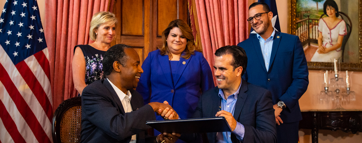 [HUD and Puerto Rico Ink $1.5 Billion Disaster Recovery Grant Agreement].