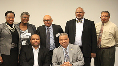 [Photo: HUD Southeast Regional Administrator Ed Jennings, Jr. (front right) with members of the Interagency Working Group seeking solutions for North Birmingham]