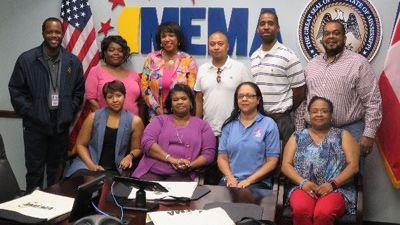 [Ray Coleman, MEMA External Affairs Officer, (standing far left) with the Mississippi Field Office staff]