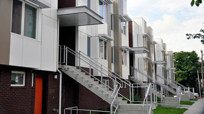 Redeveloped mixed-income housing in North Central Philadelphia