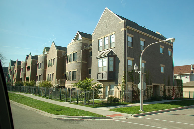 Newly constructed units in Chicago.