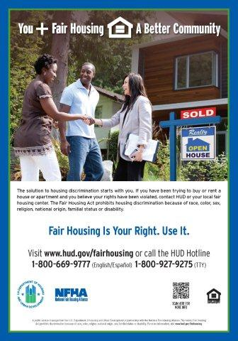 You Plus Fair Housing poster