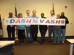 [Photo: HUD Louisville Office staff raising awareness for the local 'DASH for VASH' initiative]