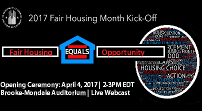 Kick-off event for Fair Housing Month 2017