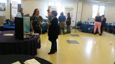 Community Organization Volunteers Exhibit at the Baright Men's Shelter Annual Education and Jobs Fair