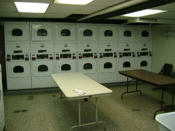 Laundry facility at site.