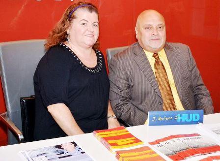 [Photos: Maria Cestaro and Henry Comas, HUD Region II Senior Management Analysts]