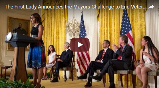 First Lady Announces the Mayors Challenge to End Veteran Homelessness