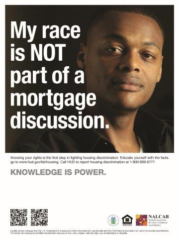My Race is NOT Part of a Mortgage Discussion poster