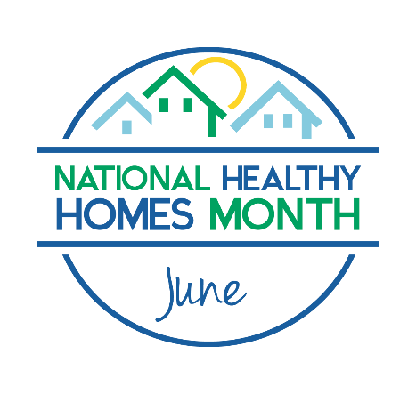 National Healthy Homes Month graphic