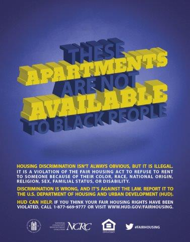 These Apartments are not Available to Black People poster