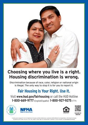 Choosing Where You Live is a Right poster