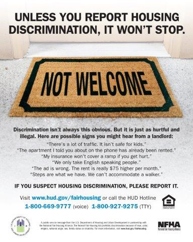 Not Welcome Doormat poster