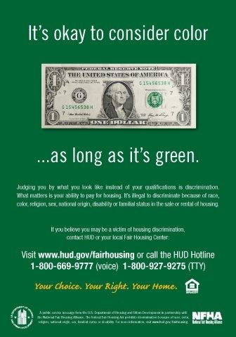 It's Okay to Consider Color as Long as it's Green poster