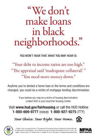 Lending Discrimination poster
