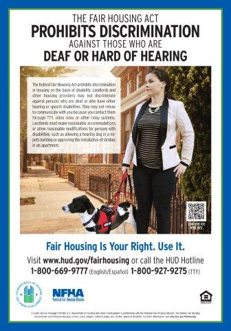 Deaf or Hard of Hearing Discrimination poster