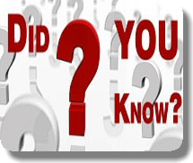 """image of text that reads """"Did You Know?"""""""