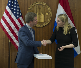 Secretary Shaun Donovan and Melanie Schultz van Haegen, the Kingdom of the Netherlands  Minister of Infrastructure and the Environment