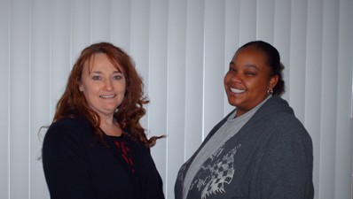 [Left to Right:  Ms. Pam Broome and Ms. Valine McDowell]