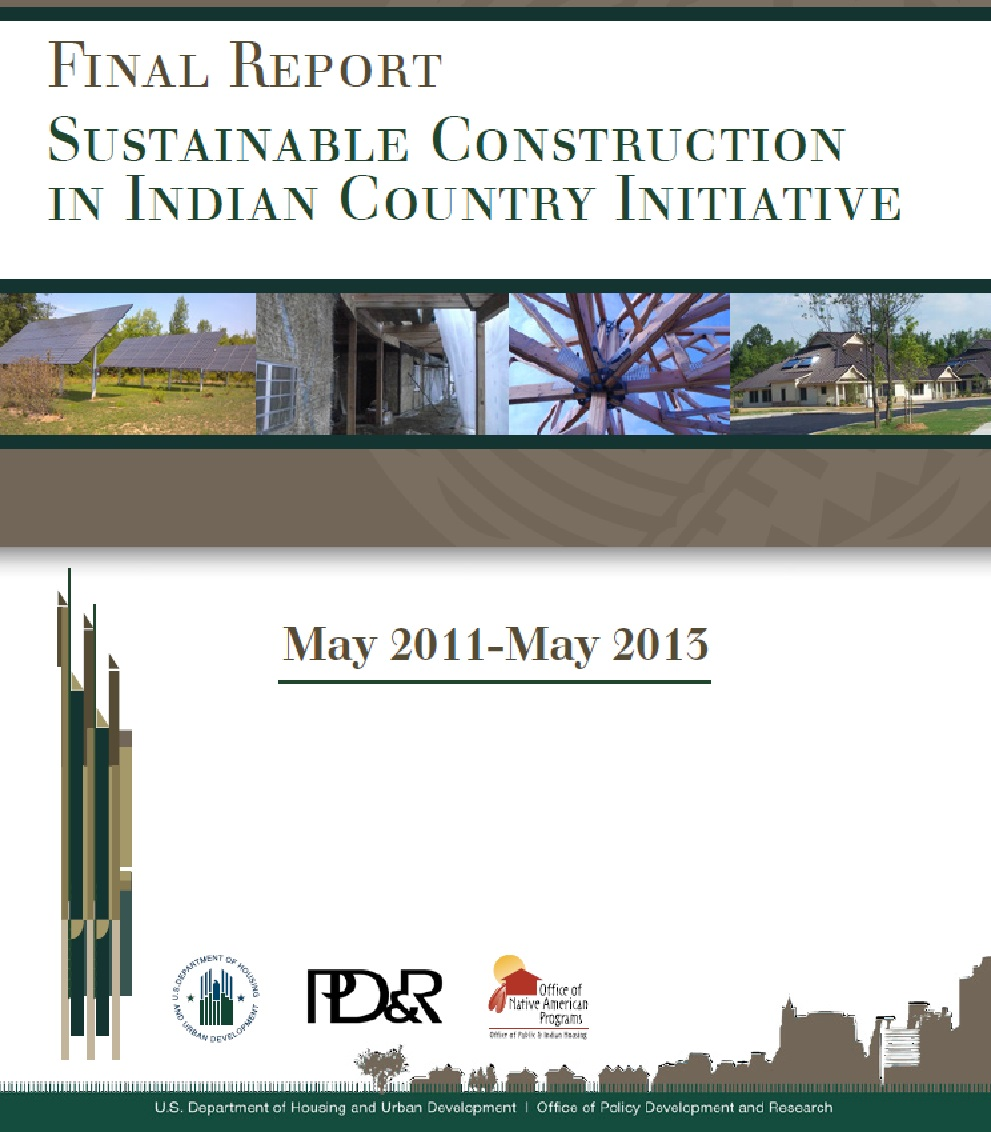 Final Report Sustainable Construction in Indian Country Initiative