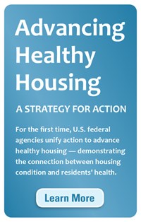 Advancing Healthy Housing button for websites